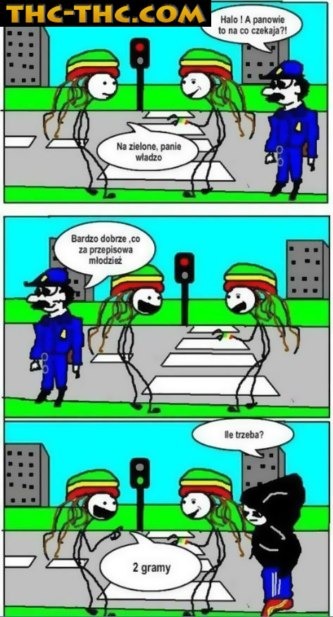 Zielone, Światło, Wesoło, Humor, THC
